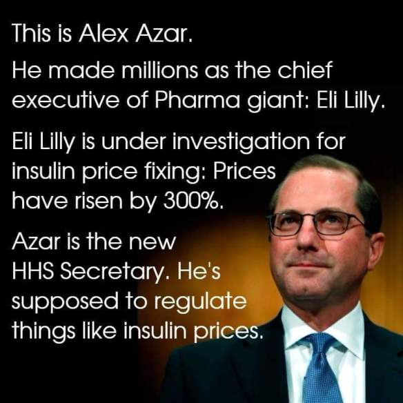 alex azar insurance scum